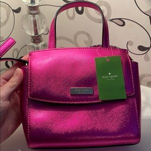NWT Kate spade shiny pink mini bag